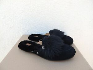 3b2ddb4b674 Details about UGG SHAINE WISP BLACK SUEDE/ SHEESPKIN SLIP-ON LOAFERS, US 9/  EUR 40 ~NEW