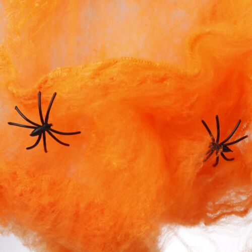 Hot Sale Stretchy Spider Web Cobweb With Spider Party for Halloween Decoration
