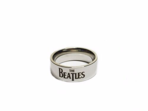 Assorted Sizes The Beatles Logo Stainless Steel Band Ring