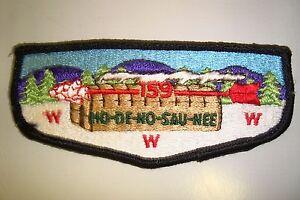 OA-HO-DE-NO-SAU-NEE-159-FRONTIER-COUNCIL-SCOUT-PATCH-LONGHOUSE-SERVICE-FLAP