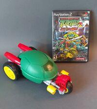 TMNT PS2 Turtles 2 Battlenexus video game & Turtle shell toy stealth bike Konami