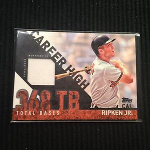 d18123216 2015 TOPPS  2 CAL RIPKEN JR  GAME USED JERSEY CARD  BALTIMORE ...