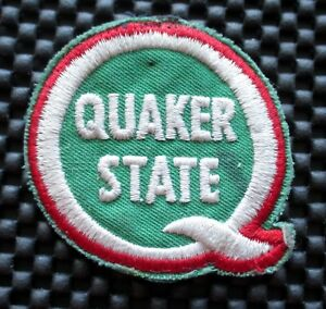 QUAKER-STATE-EMBROIDERED-SEW-ON-PATCH-MOTOR-ENGINE-OIL-PETROLIANA-2-1-2-034