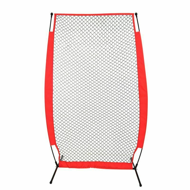 Practice Net Baseball Softball Portable Training Durable Bow Frame Compact Carry