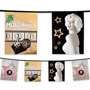 6m-Plastic-Bunting-Hollywood-Movie-Party-Decoration-Banner-Garland