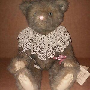 Plush-Artist-Handmade-Teddy-Bear-Wendy-Brent-8-100-Ginger-Cinnamon-Grizzelbears