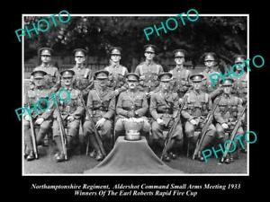 OLD-POSTCARD-SIZE-MILITARY-PHOTO-OF-NORTHAMPTONSHIRE-REGIMENT-RIFLE-TEAM-1933