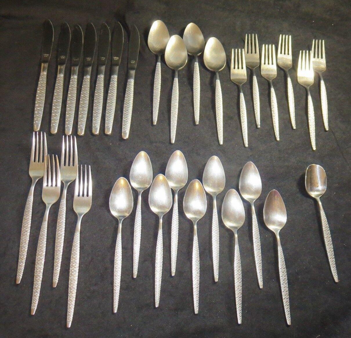 National stainless flatware La Concha Japan 31 pieces