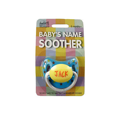 Baby Boys Name Personalised Dummy names H-L - Soother/Pacifier - multi listing