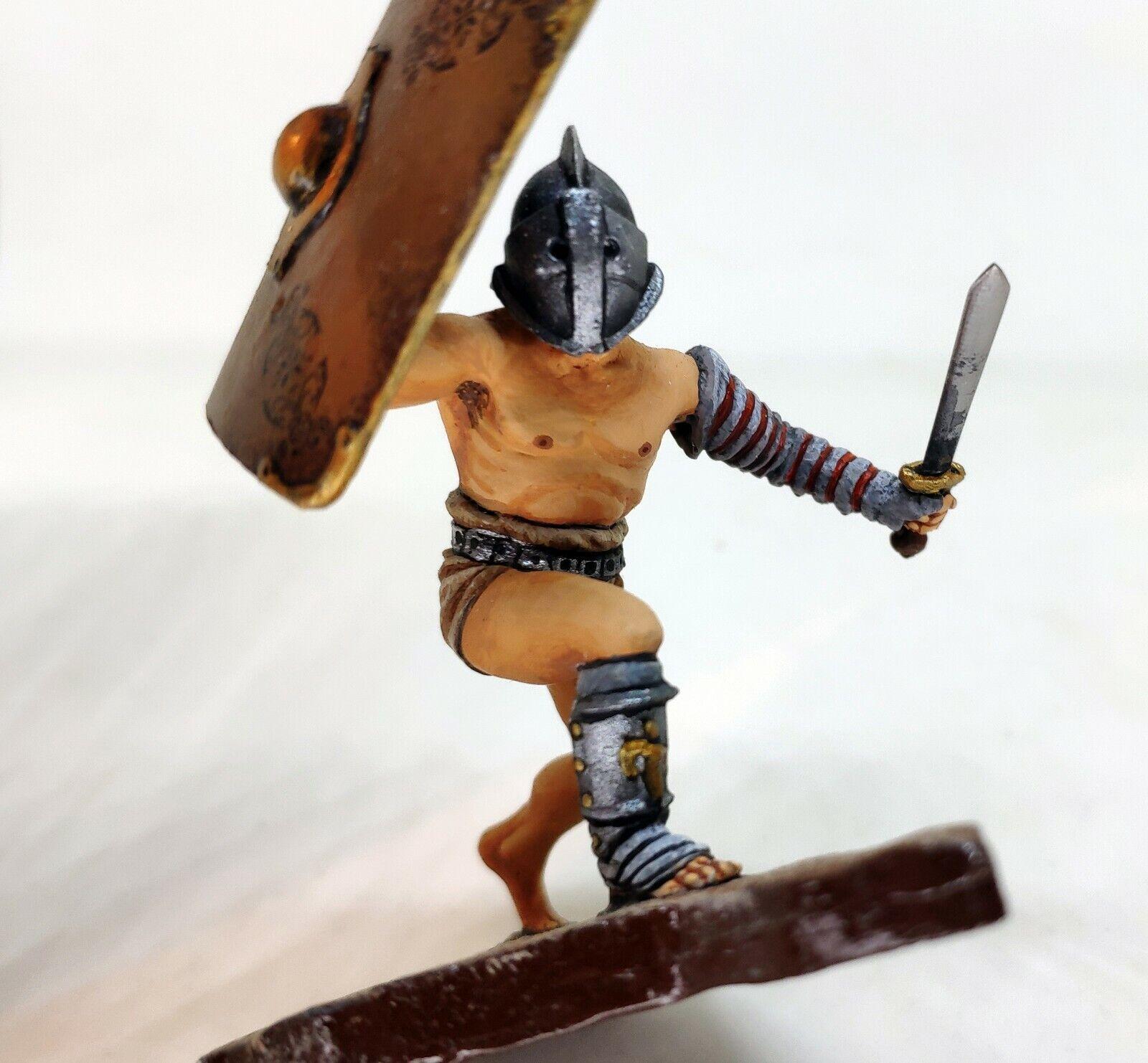 Roman Gladiator; miniature tin alloy toy historical miniature