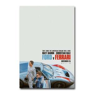Ford V Ferrari Poster Movie Canvas Silk Film Poster Print 24x36