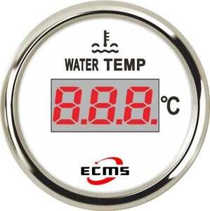 AgréAble Marine Boat Yacht Digital Water Temperature Temp Gauge 9-32v 40-120ºc 52mm 316l Vente De Fin D'AnnéE