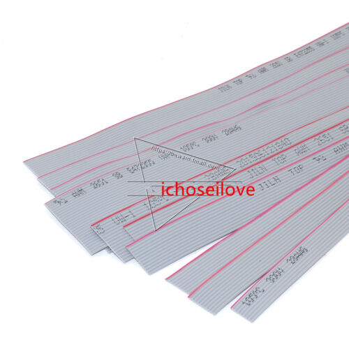 1m 1.27mm Cinta Cable plano FC-8//10//14//16//20//26P//50P Gris FC-2.54 3.28/'