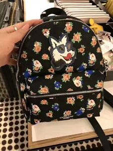 NWT-Authentic-Coach-Charlie-Mini-Backpack-Shoulder-Bag-In-Tea-Rose-Floral-Black