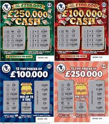 FAKE JOKE NOVELTY LOTTERY SCRATCH CARDS £100,000 + £250,000 BEST PRANK ON EBAY!
