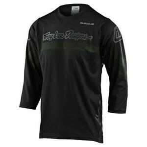 TROY LEE DESIGNS MENS GREEN BLACK RUCKUS FACTORY CAMO MTB CYCLING JERSEY LARGE