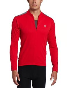 PEARL-IZUMI-MENS-039-RED-QUEST-LONG-SLEEVE-CYCLING-CYCLE-JERSEY-SMALL-EXTRA-LGE
