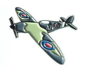 NEW-WW2-WWII-Spitfire-RAF-Military-Aircraft-Metal-Enamel-Badge-Royal-Air-Force
