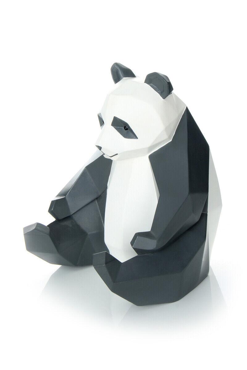 Dekofigur Panda Bär Skulptur Modern Wohnzimmer Deko SchwarzWeiß