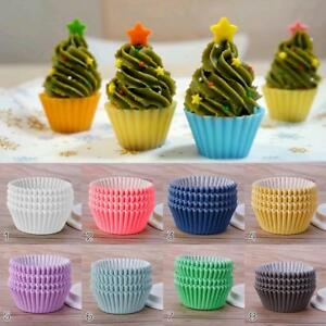 100PCS Mini Paper Cupcake Case Wedding Wrapper Muffin Liners Baking Cups DLUK