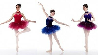 BALLET JEWELS Sequin Tutu Dance Costume Blue & Purple