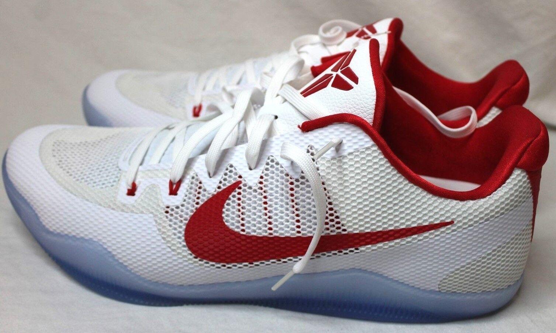 New Nike Men's Kobe XI TB Promo Basketball Shoes 856485-161 White/Red Size 18