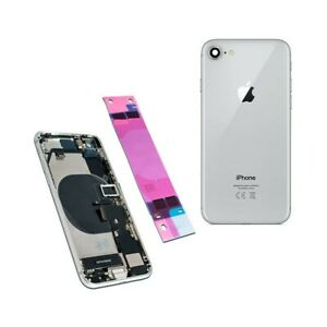 Couverture-Arriere-Coque-Structure-Chassis-Pour-IPHONE-8-Silver-100-Qualite