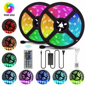 32-8FT-10M-RGB-5050-Waterproof-LED-Strip-600-SMD-lights-44-Key-Remote-12V-Power
