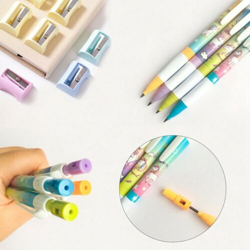 2.0mm Unicorn Pencil With Pencil Sharpener Cute Automatic Pens Girls 1pc