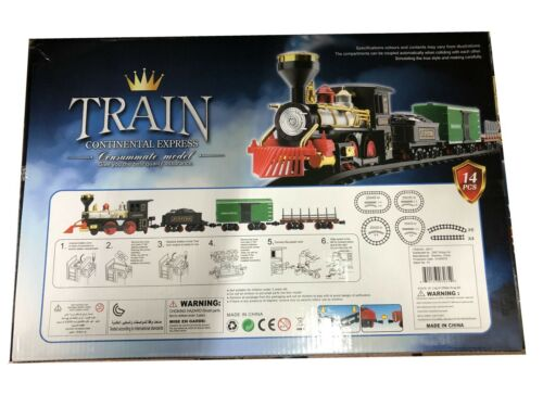 14pc Battery Operated Continental ExpressTrain Consummat Set Toy Electric Track