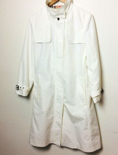 Burberry London Tess White Trench Jacket Coat Wome