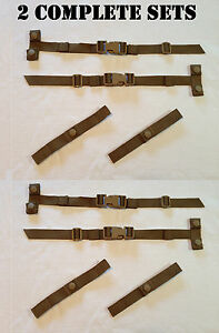 2-SETS-8-PCS-EAGLE-INDUSTRIES-ILBE-ASSAULT-PACK-STRAP-KIT-COYOTE-TAN-BROWN-MOLLE
