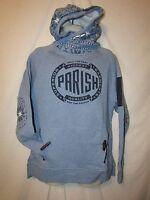Mens Parish Embroidered Sweatshirt Hoodie L Blue