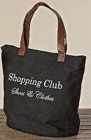 Tasche Shopping Club in schwarz Einkaufstasche Tragetasche