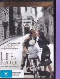 Life-Is-Beautiful-W-DVD-2000-R4-Robert-Benigni-Nicoletta-Braschi