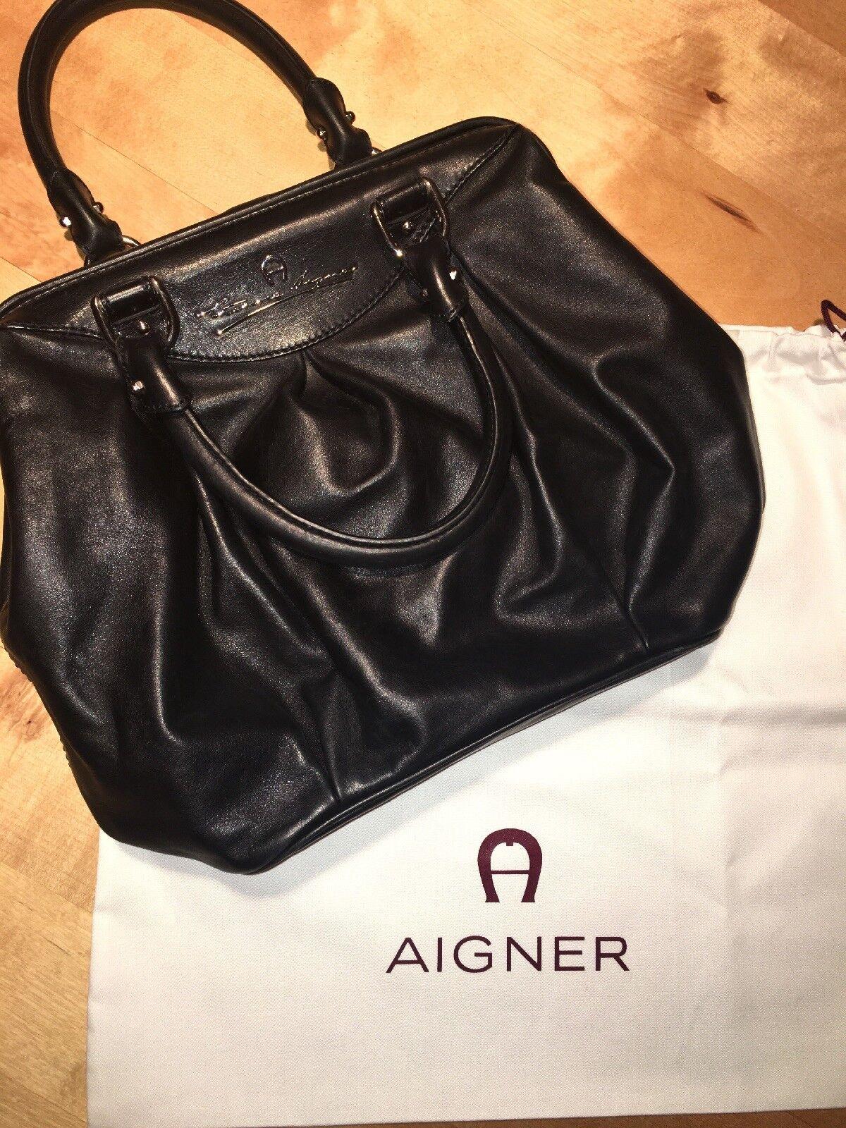 12f159be32324 Etinne Aigner Handtasche Schwarz