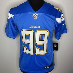 promo code 73e72 c16d7 Details about Nike NFL Joey Bosa LA Chargers On Field Youth Jersey Stitched  Size L NWT