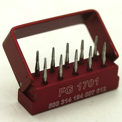 SBT Dental Tungsten Steel Carbide Burs Bur Holder Taper Cross Cut Drills FG 1701