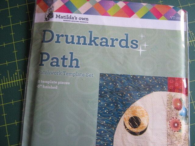 "Drunkards Path Patchwork Quilt BlockTemplate 6"" finished"