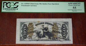 FR.1355 SP WMF (3rd Issue) 50 cent  JUSTICE - FACE SPECIMEN (PCGS - Ch.AU 55)