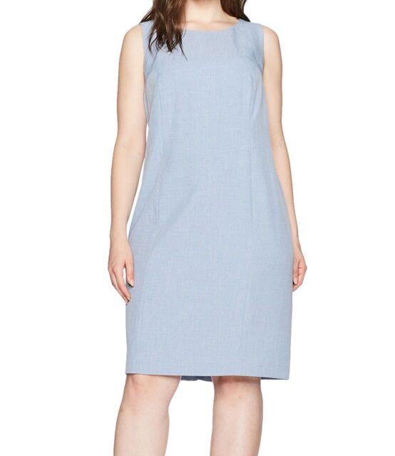 170f8bf245 Nine West Womens Blue Crosshatch Seamed Wear to Work Dress Plus 16w ...