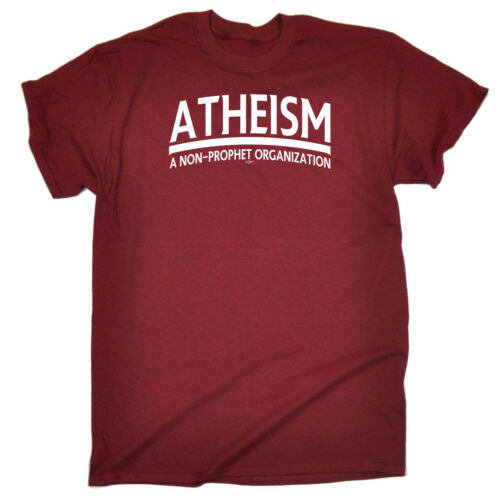 Atheism Funny Novelty T-Shirt Mens tee TShirt
