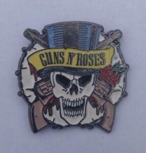 OLDER-GUNS-N-ROSES-SKULL-Enamel-Pin-Badge-SLASH-AXL-ROSE