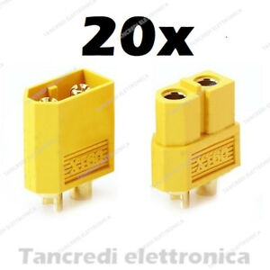 Connettori-XT60-XT-60-10-Femmina-10-Maschio-batteria-LiPo-Drone-Plug-Presa-Spina