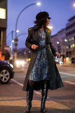 Chiffon Kleid dress Lurex Glitzer Glamour Danzing Queen Hippy 70er True VINTAGE