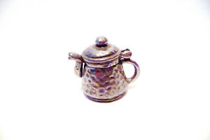THIMBLE VINTAGE HAMMERED PEWTER STEPHEN FROST COFFEE POT & LID OPENS