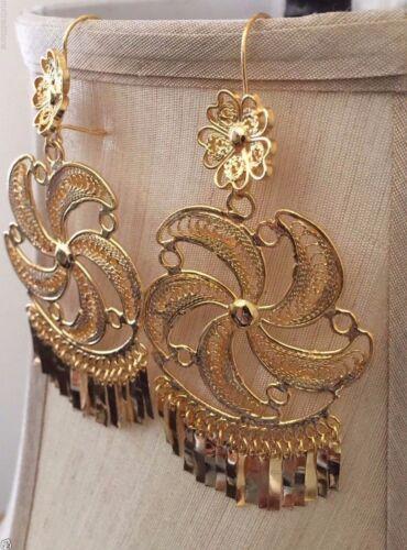 Mexican Filigree Earrings Handmade From Oaxaca Style#L3582 Aretes de Filigrana