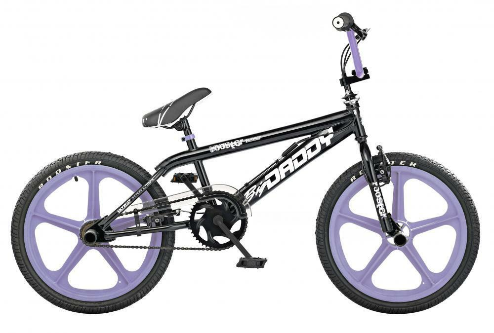 Rooster Big Daddy Kids 20  Skyway 5 Spoke Lavender Mag Wheels BMX Bike Gyro RS54