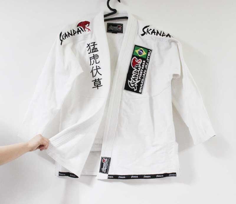 SKANDA BJJ Jiu-jitsu GI Pearl Weave White Jiu jitsu Uniform  Brazilian Kimono  low-key luxury connotation
