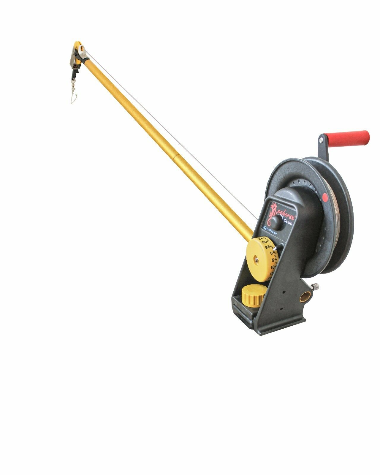 Seahorse Manual Downrigger with extended boom By Trollmaster